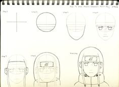 """Hello, Everyone! I'm back again, and with something you've all been requesting: my first """"How to Draw Naruto Characters"""" official tutorial. How to Draw Naruto Characters - Part 1 Neji Wallpaper Naruto Shippuden, Naruto Shippuden Anime, Naruto Art, Anime Naruto, Boruto, Naruto Drawings Easy, Anime Drawings Sketches, Manga Drawing, Naruto Sketch"""