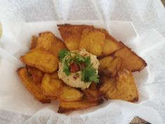 Breadfruit chips are delicious! Ate these with hummus for dipping at Freedom Restaurant in Frederiksted, St Croix, US Virgin Islands.