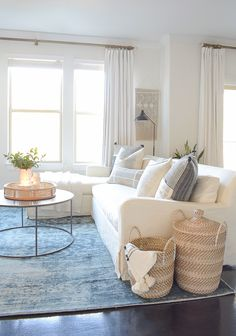 Creating A Cozy Winter Home With A Nod To Spring - Tips + Tour Creating a cozy winter home - boho chic living room design
