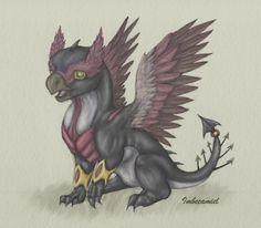 Baby Hawkeye Dragon by Imbecamiel.deviantart.com on @deviantART