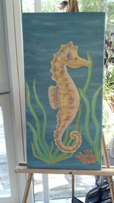 Sea horse painting
