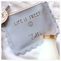 Zoella life is sweet purse Zoella Makeup, Zoella Beauty, Beauty Makeup, Zoella Quotes, Zoella Products, Zoella Lifestyle, Youtuber Merch, Sugg Life, Zoe Sugg
