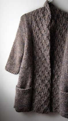 Beautiful sweater knit by Cindy @Craftsy