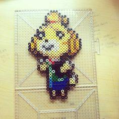 Isabelle Animal Crossing  perler beads by ichigootaku