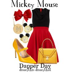 Mickey Mouse (Outfits by DisneyThis-DisneyThat @Polyvore) #Disney