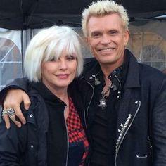 Billy Idol e Debbie Harry