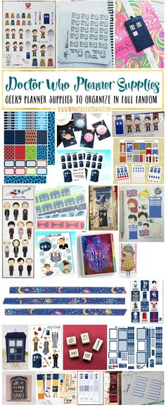 Are you a whovian who wants to get organized this year? Cute stickers, layouts, accessories like these doctor who planner supplies are sure to inspire you! Doctor Who Planner Supplies & Inspiration http://mysocalledchaos.com/2017/01/doctor-who-planner-supplies.html