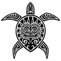 Maori Turtle Tattoo Design