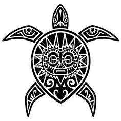 Maori Turtle Tattoo Design