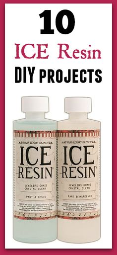 Ice resin projects