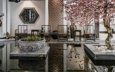 home, Chinese style, modern, classical Asian Interior Design, Chinese Interior, Asian Design, Japanese Interior, Chinese Garden, New Chinese, Chinese Style, Chinese Courtyard, Chinese Architecture
