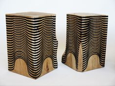 I love, love, love the optical illusion of these stools.