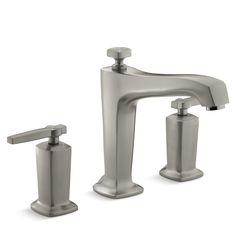 Margaux Deck-Mount Bath Faucet Trim for High-Flow Valve with Non-Diverter Spout and Lever Handles, Valve Not Included