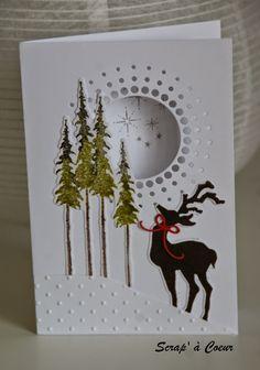 Scrap' à Coeur: Des cartes de voeux Memory Box Circle Burst die, Sizzix Texture Fades Embossing Folder Tall Pines http://scrapacoeur.blogspot.fr/2014/11/encore-quelques-semaines-devant-nous.html