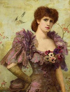 "Herbert Gustave Schmalz (1856-1935) ""Portrait of Lilie Langtry""  