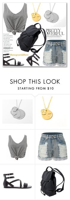 """""""Monogram & More 5/I"""" by amra-mak ❤ liked on Polyvore featuring LE3NO, Forever 21 and monogram"""