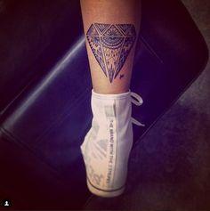 awesome Women Tattoo - unique diamond tattoo...