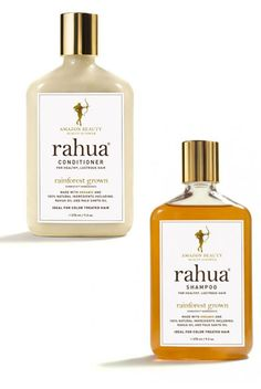 Rahua Shampoo, $32, and Conditioner, $34; rahua.com Speaking from experience, finding a natural shampoo and conditioner that doesn't leave hair oily or, well, dirty is no easy task. Rahua does it exceedingly well, with recognizable ingredients like quinoa, molasses, and aloe—as well as palo santo wood, the brand's signature scent.