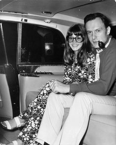 Pictured here are Playboy founder Hugh Hefner and his longtime love Barbi Benton Benton. The pair met back in 1968 on the set of his TV show, Playboy After Dark. Hugh Hefner, Girl Next Door, Celebs, Celebrities, After Dark, Cool, American Actress, Female Bodies, Capes