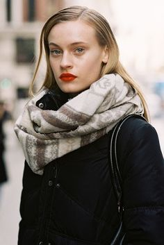 congrats on your face #PaulinaHeiler (and cool scarf too btw). #offduty in London. #VanessaJackman