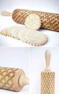 Valek Rolling Pins // Emboss your baked goods with custom patterns or text! #product_design