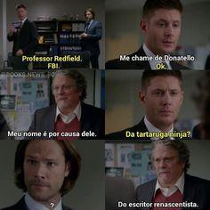 Dean e demais 😹❤ Supernatural Series, Winchester Supernatural, Supernatural Funny, Castiel, Spn Memes, Netflix Tv Shows, Cinema Tv, Thing 1, Geek Humor