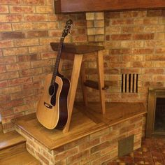 Wooden Guitar Stool/Stand Combination