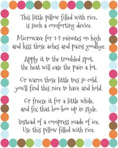 Rice bag printable