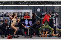 Elle Uk perfect editorial: Louis Vuitton Backstage Shoot - T a l e S t r i p