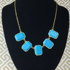 Lil & Lo Fashion Jewelry Blue Statement Necklace Fun and easy to wear. Part of the Lil & Lo Fashion Jewelry line. Beautiful Blue statement necklace can kick up any outfit! Lil&Lo Jewelry Necklaces