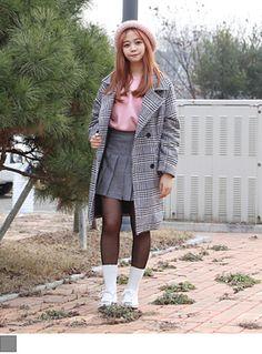 [하운즈투스체크코트] #키키코 #KIKIKO #1월 #신상 #NEW #ARRIVAL #키작녀 #쇼핑몰 #10대 #여성 #Dailylook #Fashion