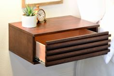 Floating Drawer as Nightstand - DIY