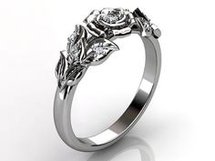 Lotus in white gold, its https://www.ornaz.com/  #Ornazpromise #love #ring #engagement