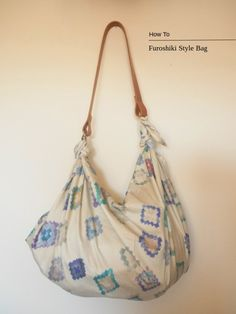An easy furoshiki style bag tutorial. Gift wrap and a cute foldable bag all in… Make Your Own Blanket, Furoshiki Wrapping, Gift Wrapping, Diy Accessoires, Japanese Fabric, Japanese Bags, Fabric Bags, Beautiful Bags, Hobo Bag