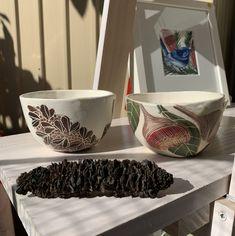 Nicole Miranda of Originally Nic is a Sydney Graphic and Visual Artist plus Ceramicist inspired predominantly by nature. Ceramic Artists, Serving Bowls, Decorative Bowls, Original Artwork, Ceramics, Tableware, Handmade, Ceramica, Pottery