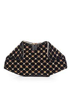 12c064c82fdc My favorite bags for  Fall - Alexander McQueen Demanta Embroidered Velvet  Clutch  alexandermcqueen Alexander