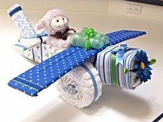 Airplane Diaper Cake by Uponamonkey on Etsy