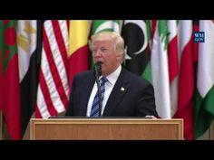 MUST WATCH! President Donald Trump Major Pro Islam Speech In Saudi Arabia | Best Trump Speech Ever - YouTube