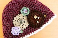 CROCHET FLOWER FREE HAT PATTERN | Crochet Patterns
