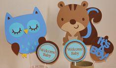 Baby Shower Centerpiece Owl Baby Animals Centerpiece on Etsy, $25.50
