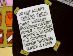 "30 Hilarious ""Simpsons"" Sight Gags"