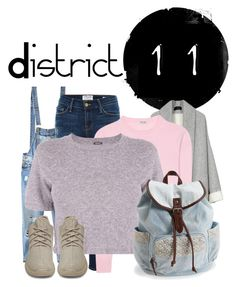 """District 11 - Day off"" by its-about-time-someone ❤ liked on Polyvore featuring Relaxfeel, Frame Denim, Miu Miu, Monrow, Aéropostale and adidas Originals"