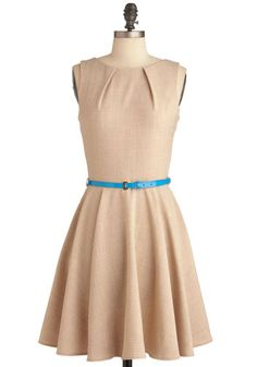 Luck Be a Lady Dress in Khaki