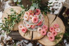 Alsace, Donuts, Floral Wreath, Bar, Table Decorations, Desserts, Unique, Winter Weddings, Handmade Table