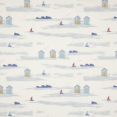 Buy John Lewis & Partners Margate Beach Huts Furnishing Fabric, Blue from our View All Fabrics range at John Lewis & Partners. Margate Beach, Curtains Or Roman Blinds, Made To Measure Curtains, Childrens Room Decor, My Happy Place, Guys And Girls, Beach Huts, John Lewis, Home Furnishings