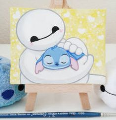 Baymax and Stitch – Hairy Baby! by Jennifairyw on DeviantArt Baymax and Stitch – Hairy Baby! Simple Canvas Paintings, Small Canvas Art, Mini Canvas Art, Bmax Disney, Disney Fan Art, Punk Disney, Disney Movies, Disney Characters, Cute Disney Drawings