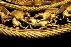 Scythian goldwork from Tolstaja Mogila, Kurgan. 4th century BCE.