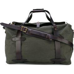 Filson medium duffle bag ($533) ❤ liked on Polyvore featuring bags, green, cotton duffle bag, cotton bags, duffle bag, duffel bag and green bags