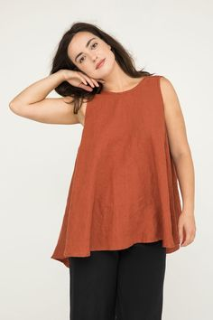 95317459044b51 Harlow Tunic in Midweight Linen