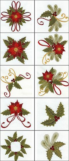The 215 Best Christmas Embroidery Images On Pinterest Christmas
